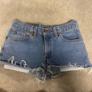Pants - Blue Levi's jean shorts